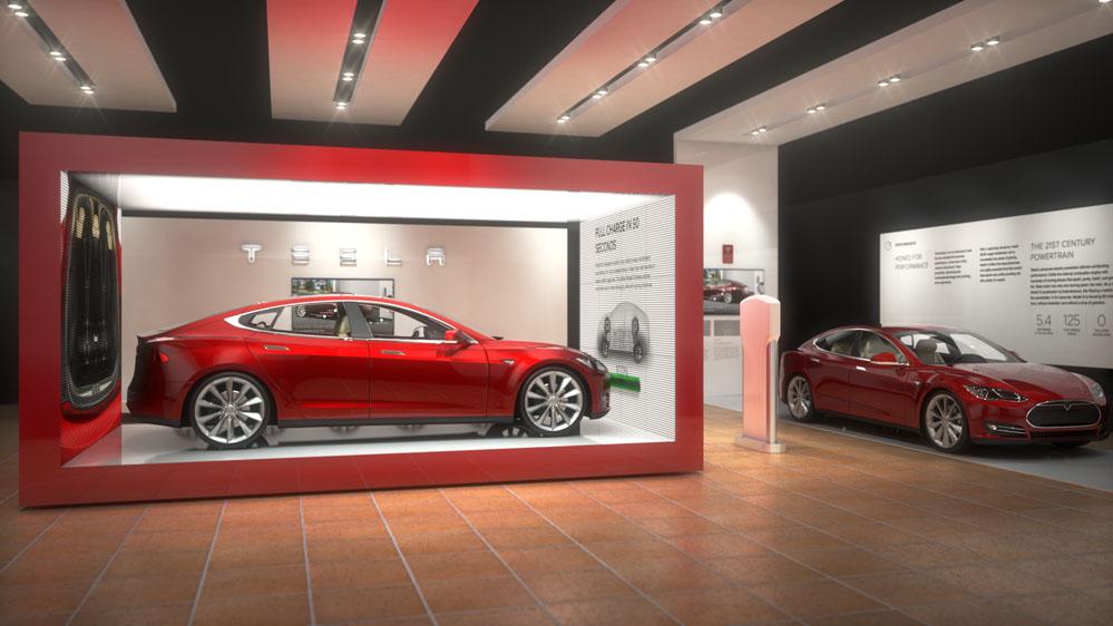Tesla New York International Auto Show Proposal Concept B Infusion Studios