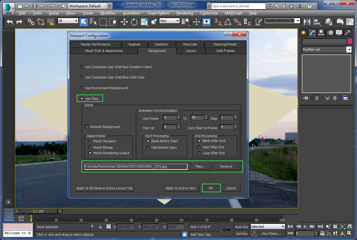 Background image 3ds max viewport - Vp_perspective_background